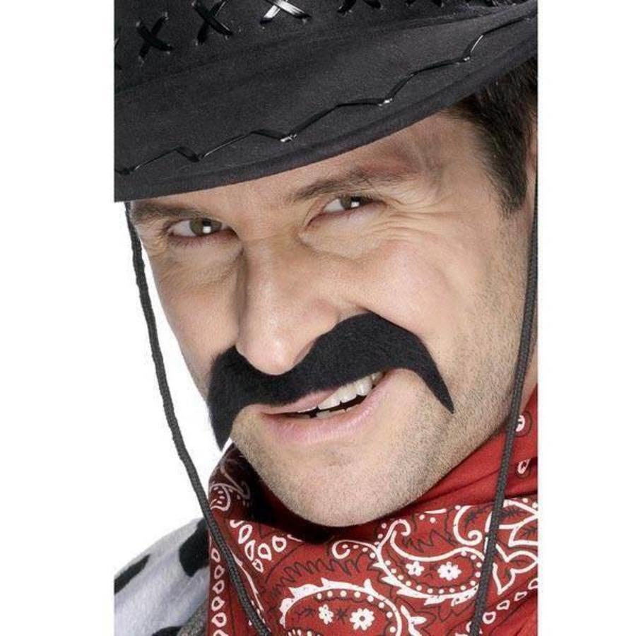Snor cowboy zwart