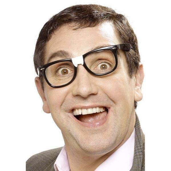 Nerd bril met plakbandje