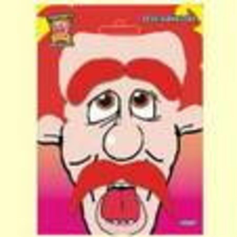 Snor Comedy met wenkbrauwen rood