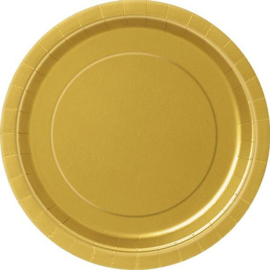 Bordjes goudkleurig 8 stuks