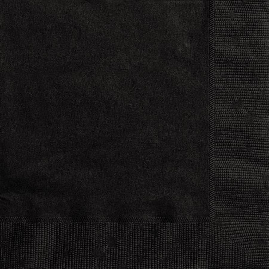 Servetten 33x33cm zwart 20 stuks