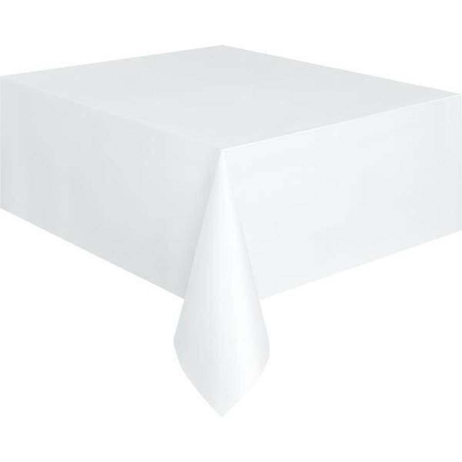 Tafelkleed wit plastic