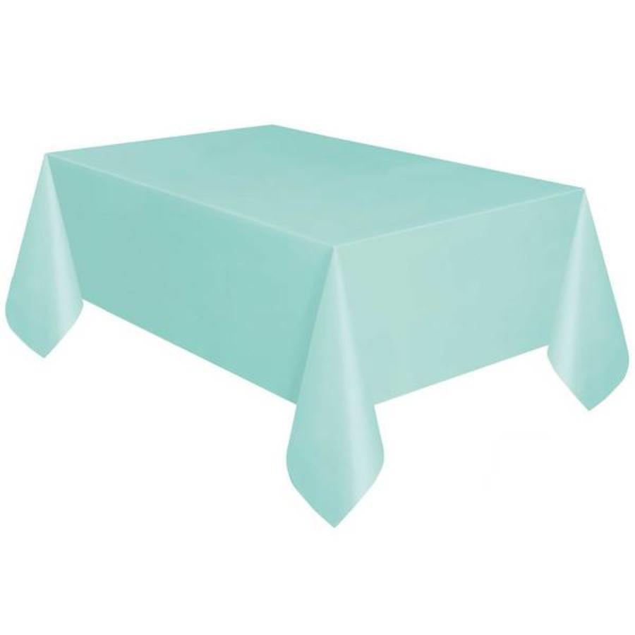 Tafelkleed mintgroen plastic