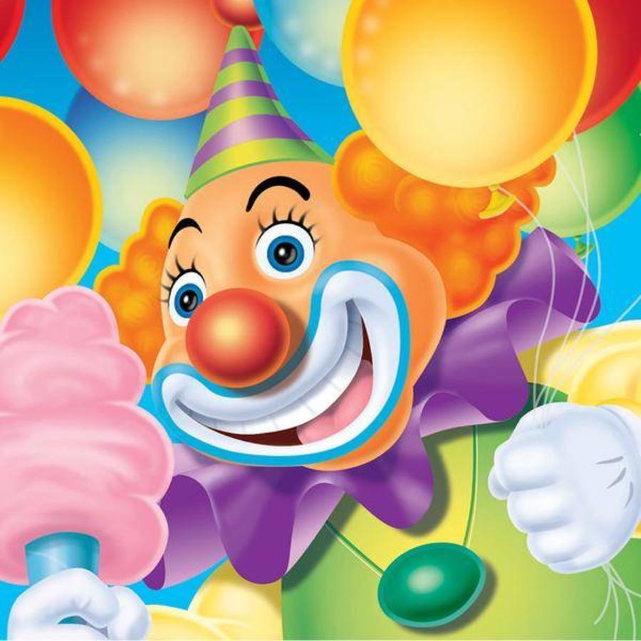Servetten Circus Clown 16 stuks