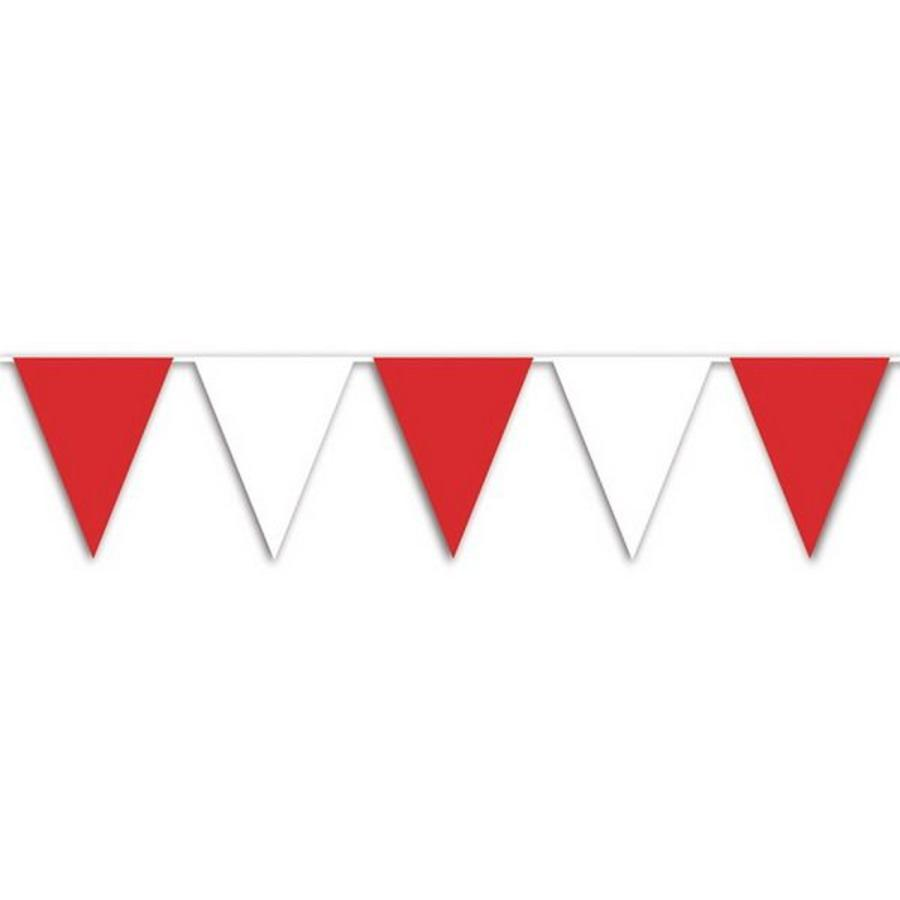 Vlaggenlijn rood wit 10 meter