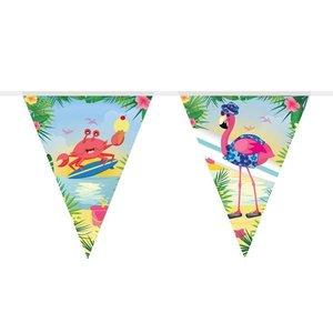 Vlaggenlijn Flamingo on the beach