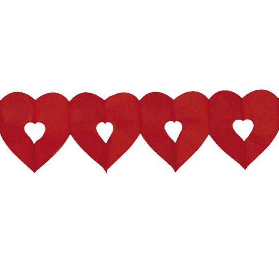 Slinger hart rood klein 6 meter