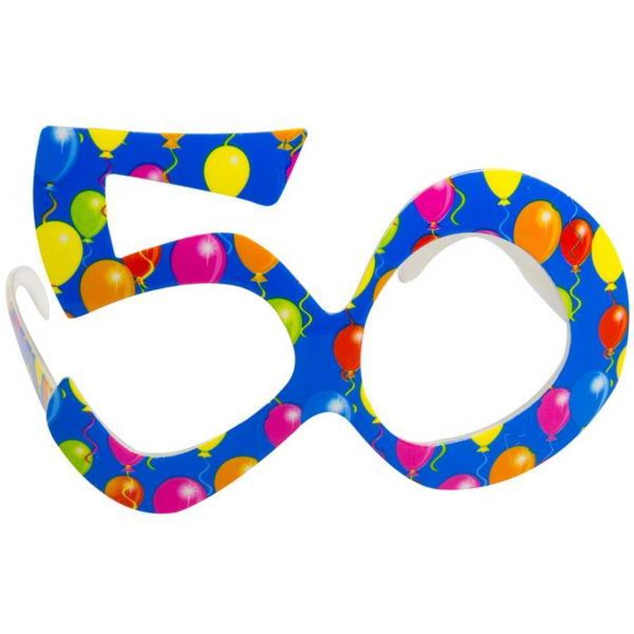 Funbril 50 jaar blauw