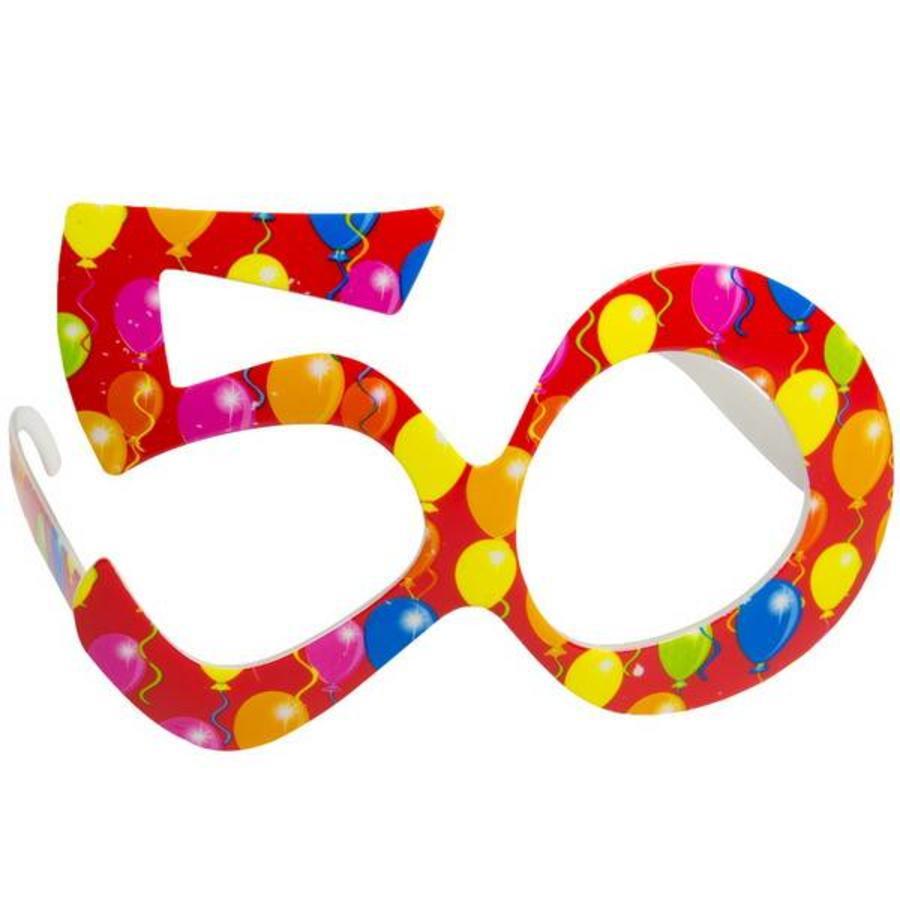 Funbril 50 jaar rood