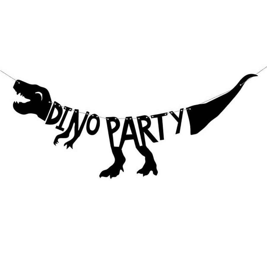 Tekst slinger Dino Party 90cm