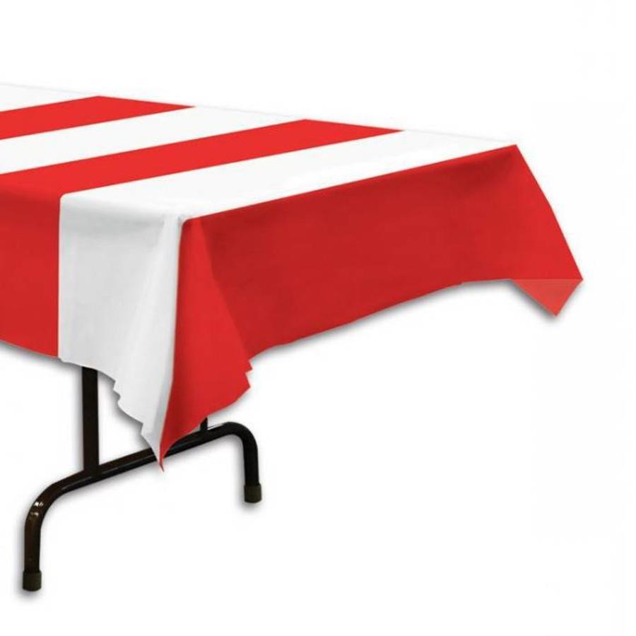 Tafelkleed Circus rood wit gestreept