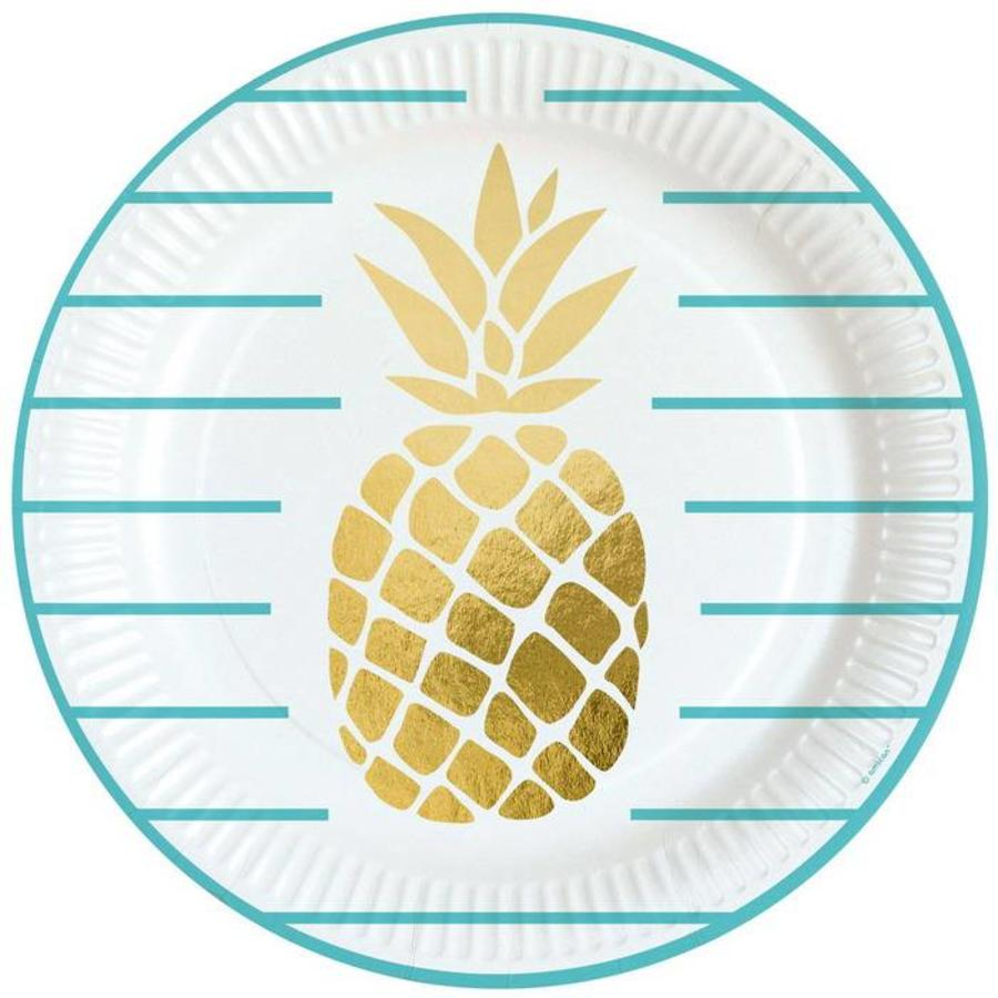 Bordjes Ananas stijlvol 8 stuks