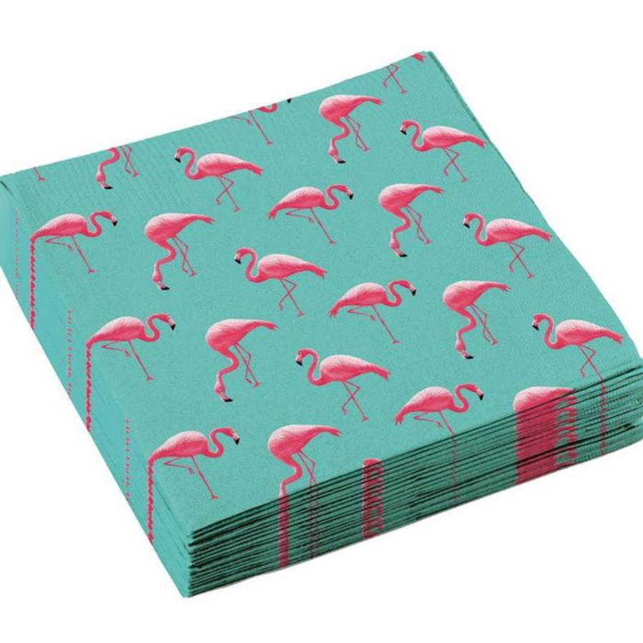 Servetten Flamingo mintgroen 20 stuks