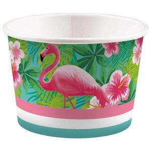 IJs bakjes Flamingo 8 stuks