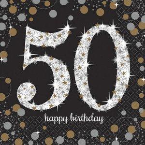 Ongebruikt 50 jaar versiering - Abraham en Sarah feestartikelen - 50 jaar JA-42