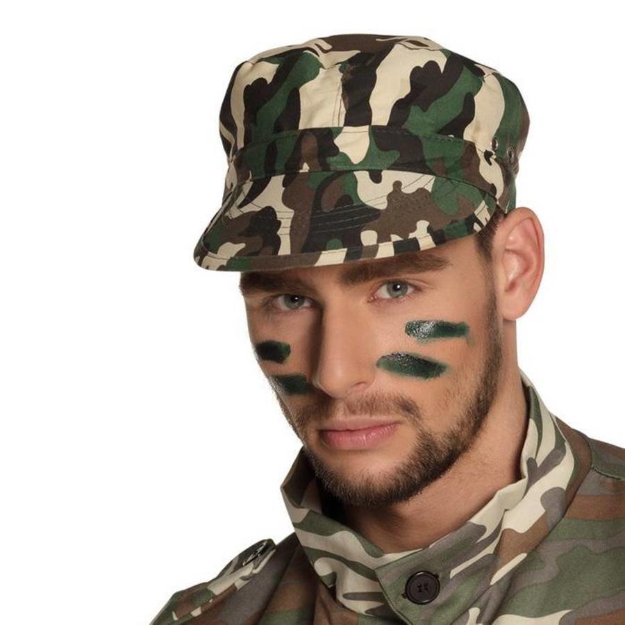 Cap soldaat camouflage