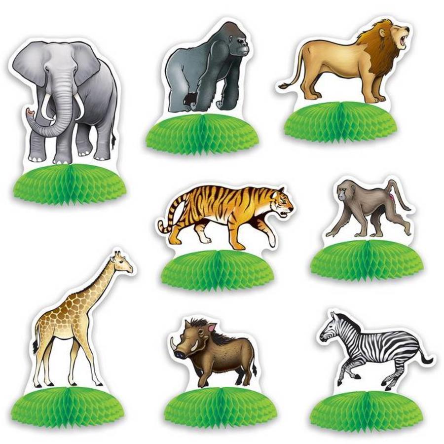 Tafeldecoratie Jungle en Safari 8 stuks