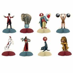 Tafeldecoraties circus figuren 8 stuks