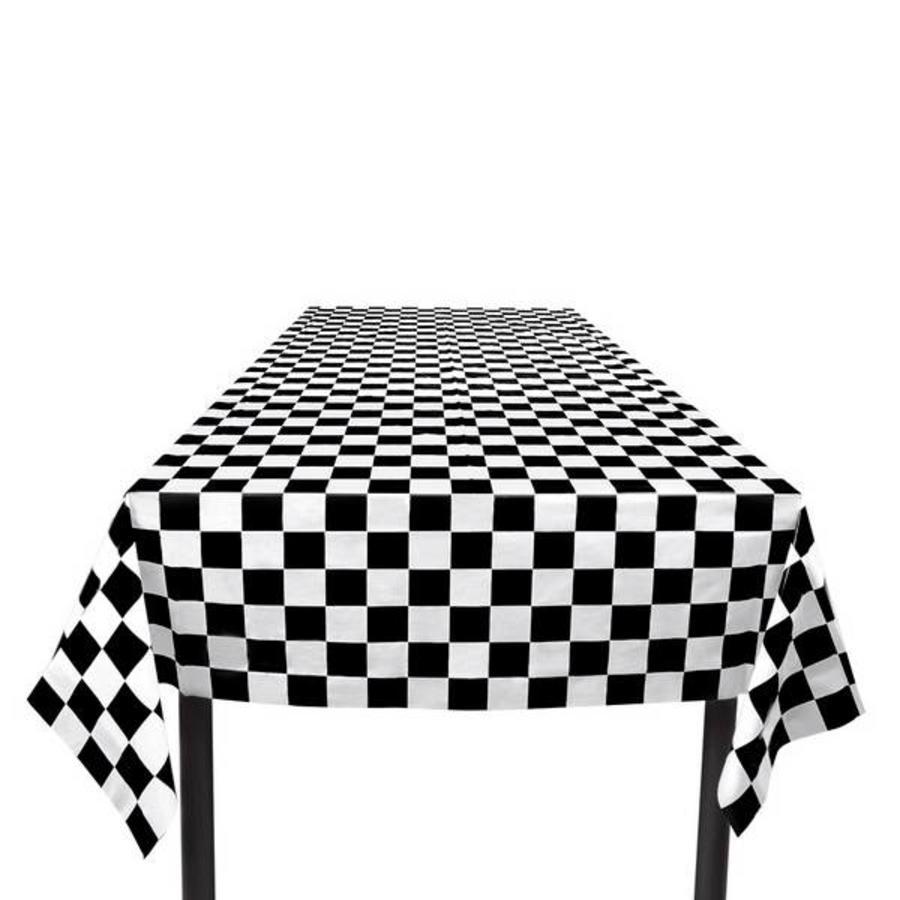 Tafelkleed Sixties zwart wit geblokt