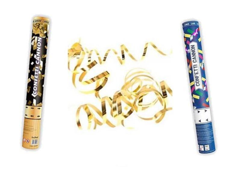 Confetti en serpentines in verschillende kleuren - Ook effen kleuren