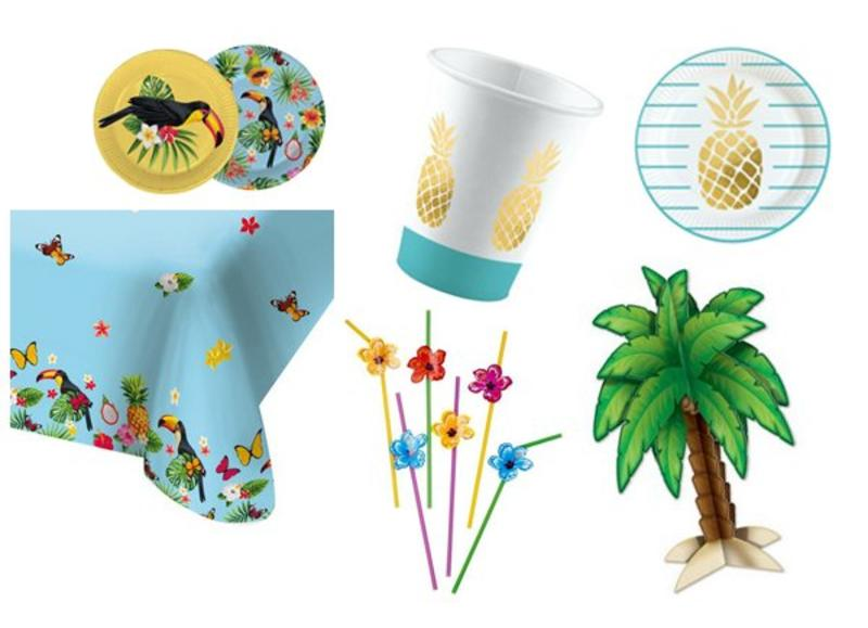 Tafeldecoraties voor Hawaii themafeesten