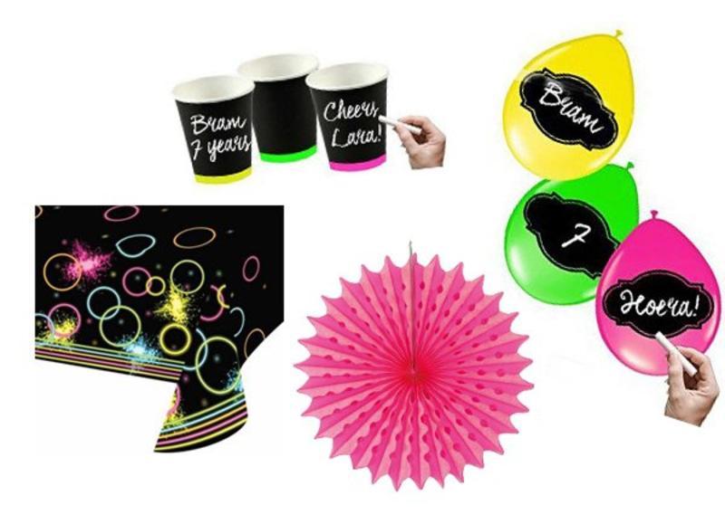 Fluor en Neon party versiering
