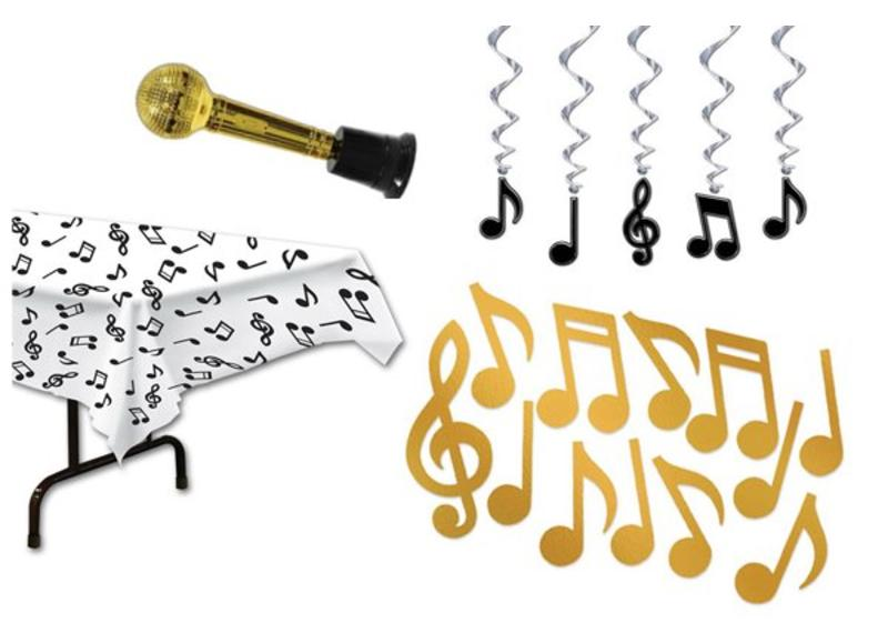 Muziek themafeest versiering