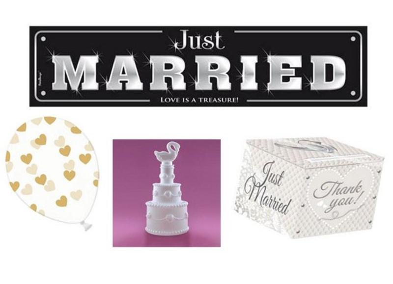 Bruiloft versiering en decoratie