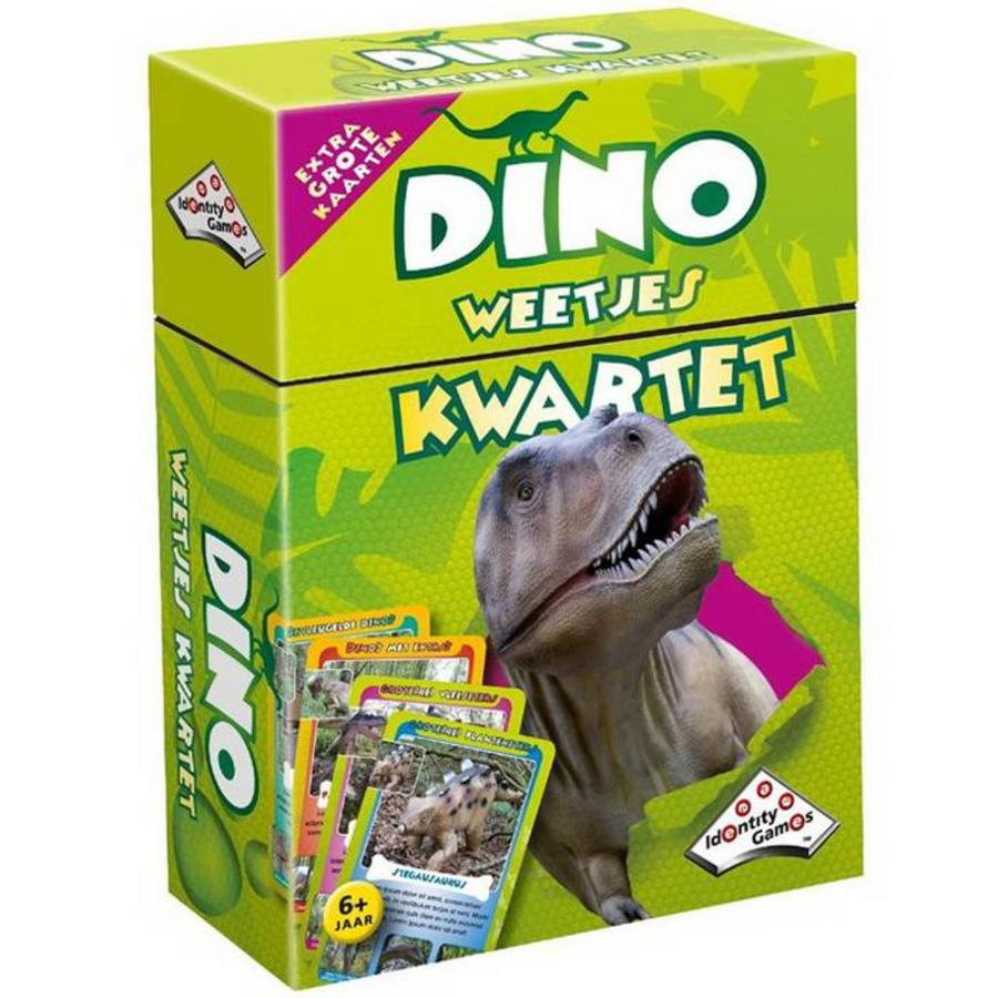 Dinosaurus kwartet met extra grote kaarten