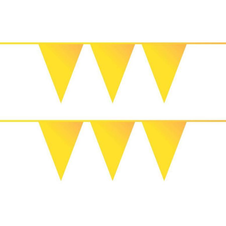 Vlaggenlijn geel plastic 10 meter