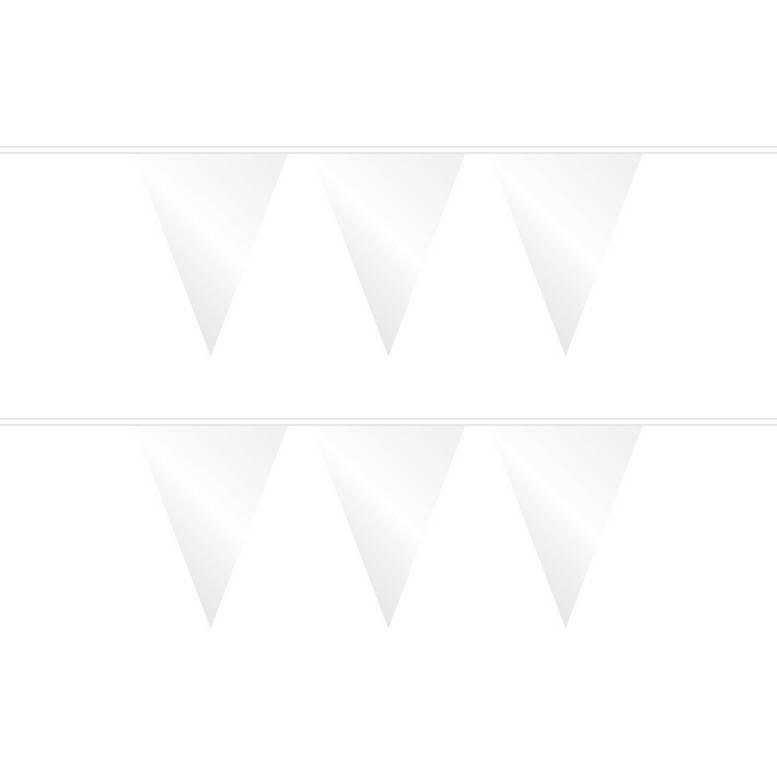 Vlaggenlijn wit plastic 10 meter