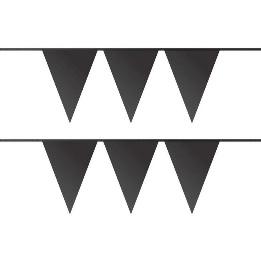Vlaggenlijn zwart plastic 10 meter