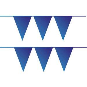 Vlaggenlijn donkerblauw plastic 10 meter
