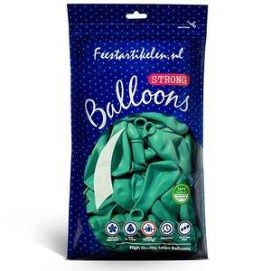 Ballonnen zeegroen 100 stuks