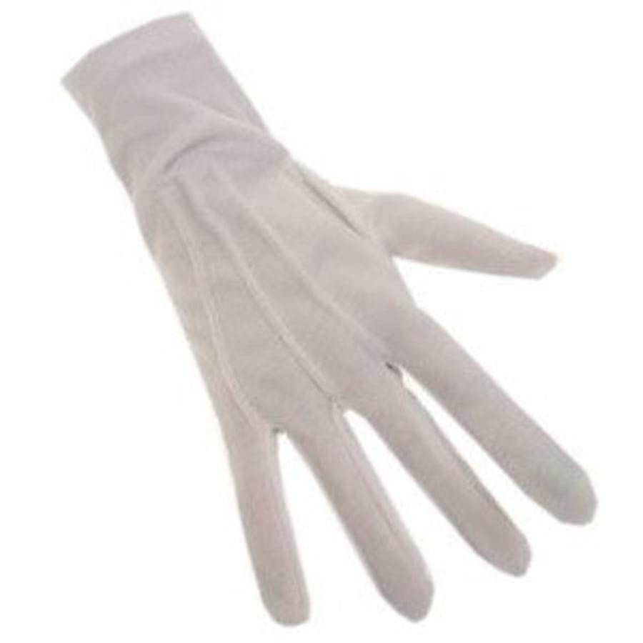 Handschoenen kort wit maat XL