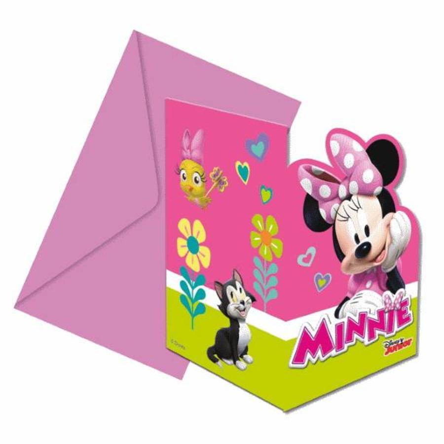 Uitnodigingskaartjes Minnie Mouse