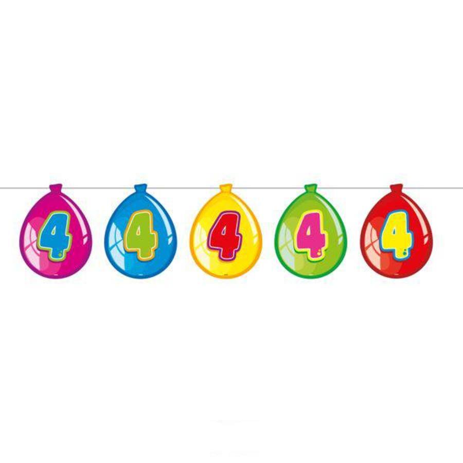 Slinger 4 jaar bedrukt op deco ballonnen