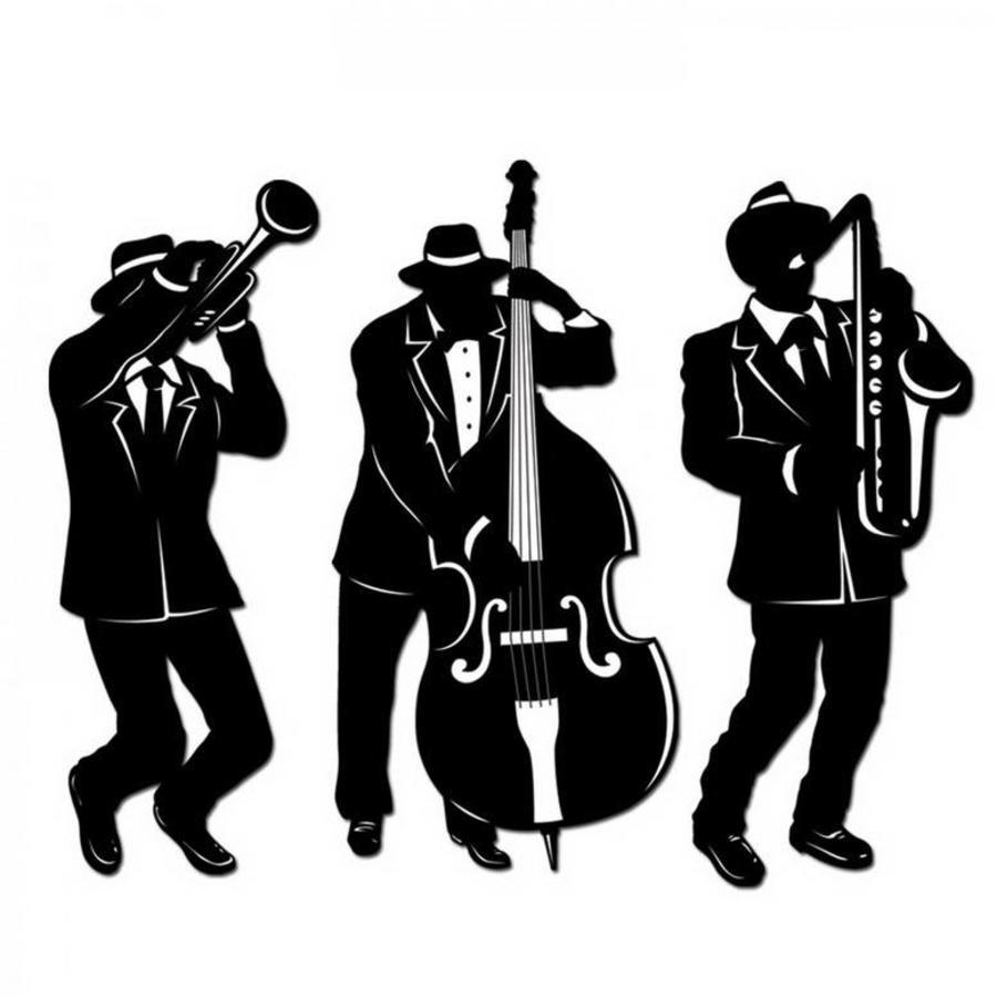 Muurposter Jaren 20 Jazz Trio 3 stuks