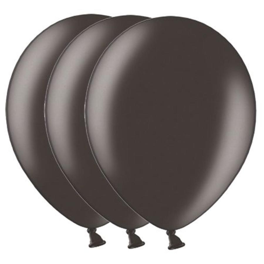 Metallic ballonnen 1e klas zwart 20 stuks