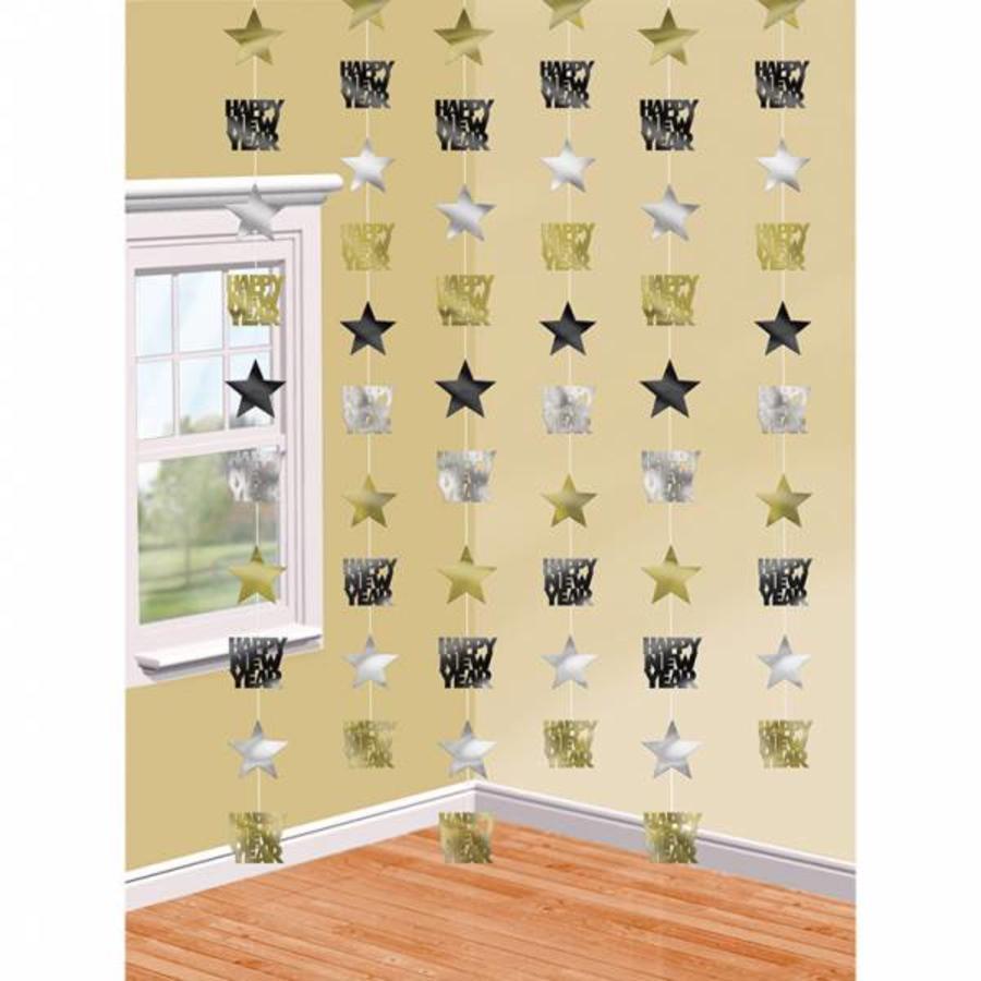 Hangdecoratie Happy New Year stars