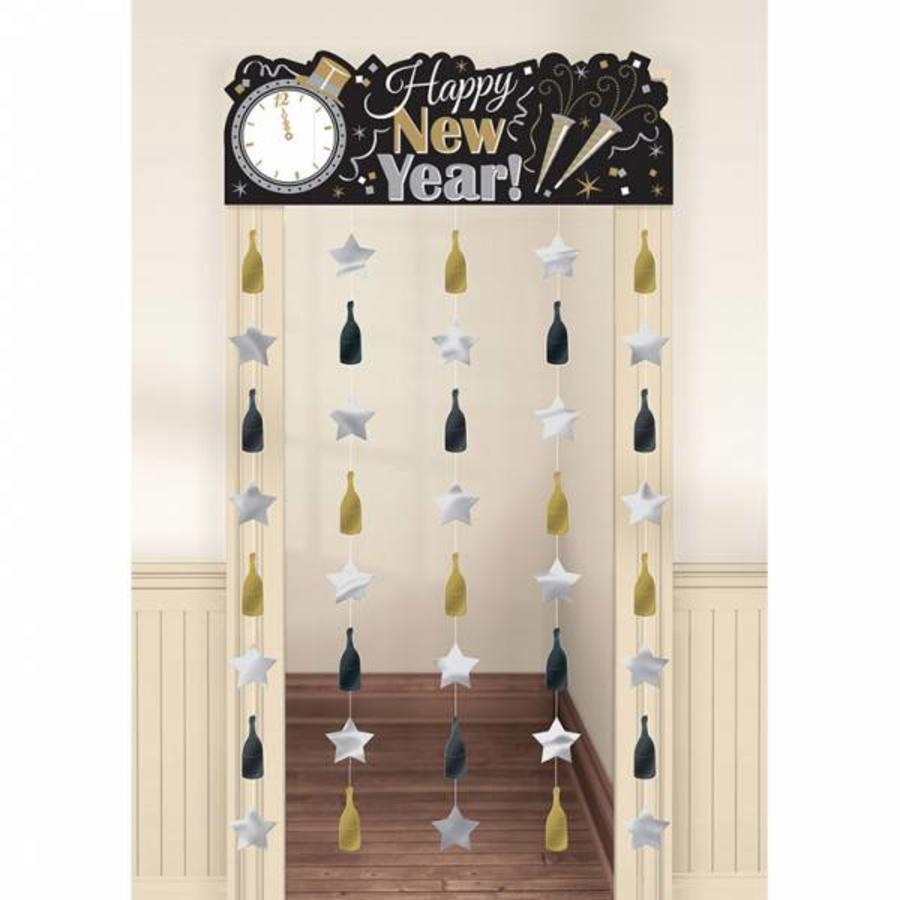 Deurgordijn Happy New Year