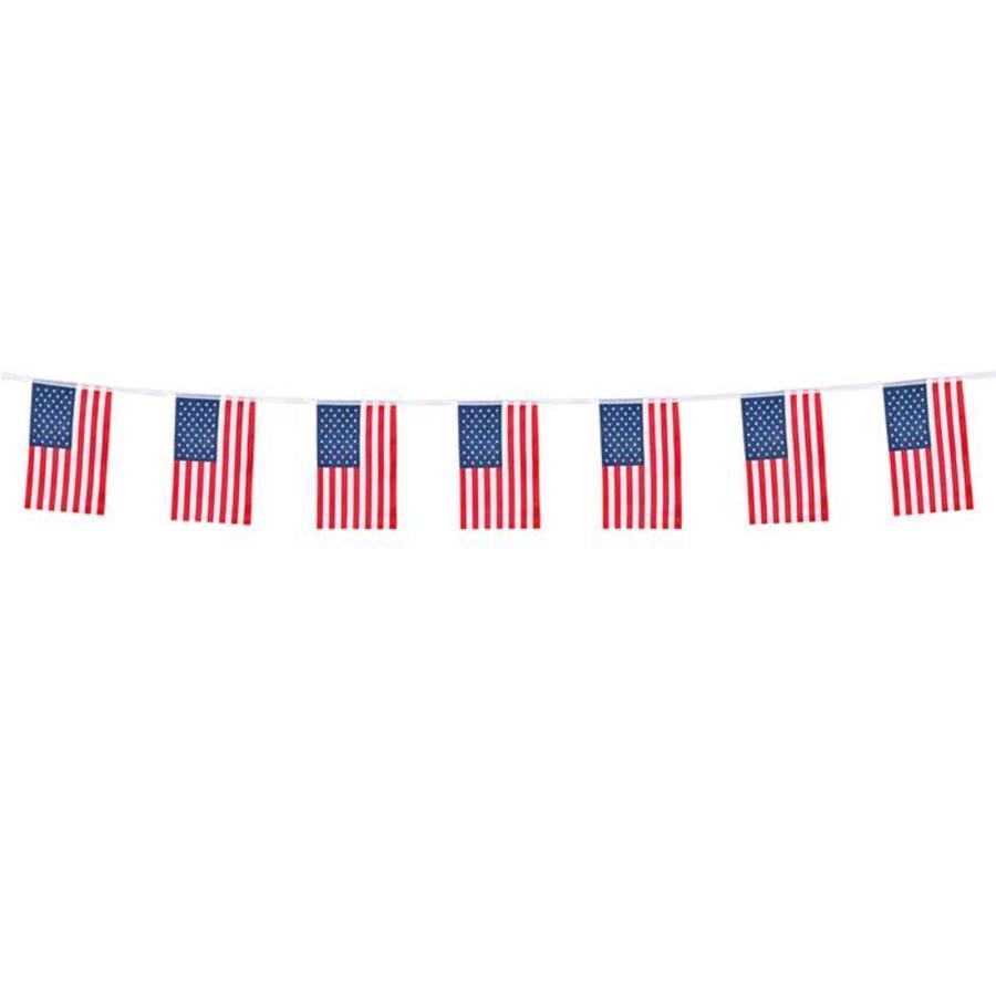 Vlaggenlijn USA stof 4 meter