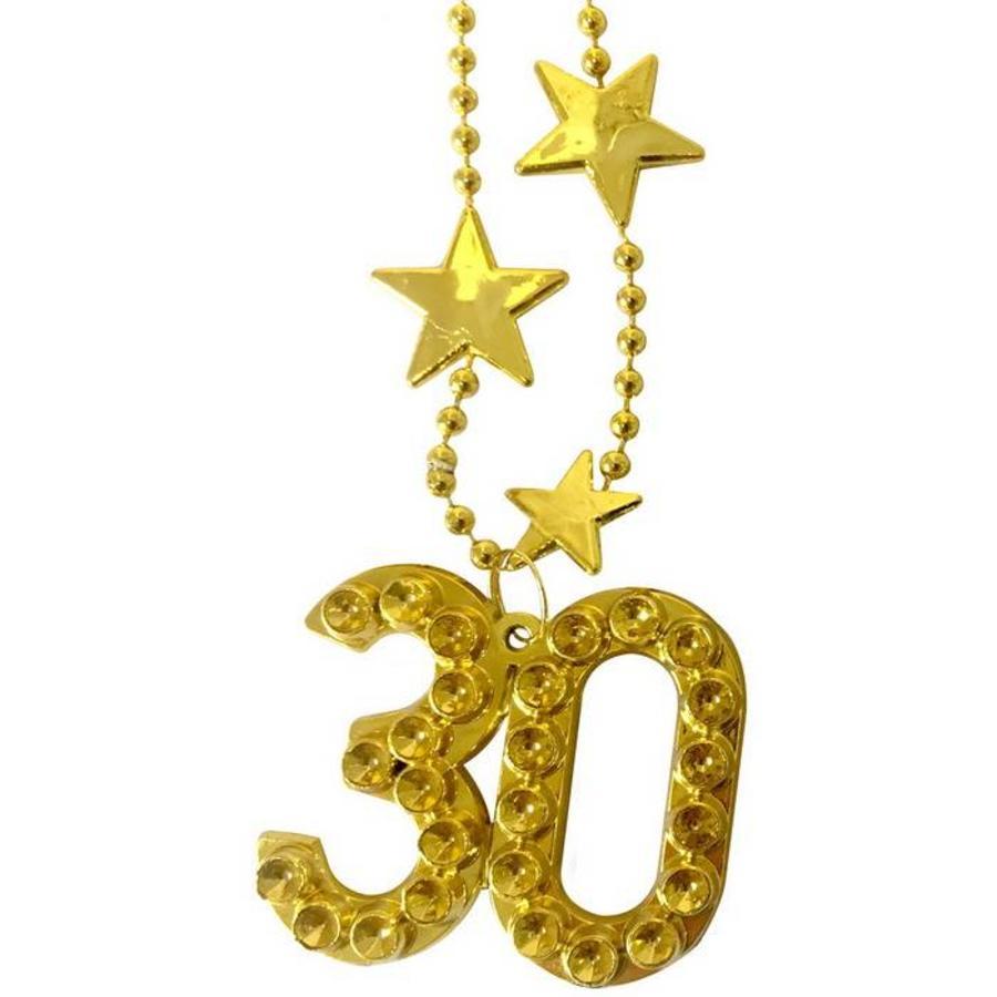 Ketting 30 jaar goudkleurig