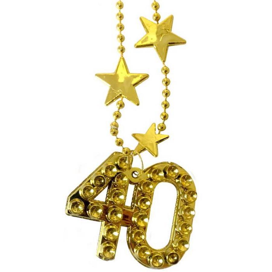 Ketting 40 jaar goudkleurig