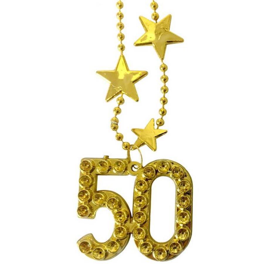 Ketting 50 jaar goudkleurig