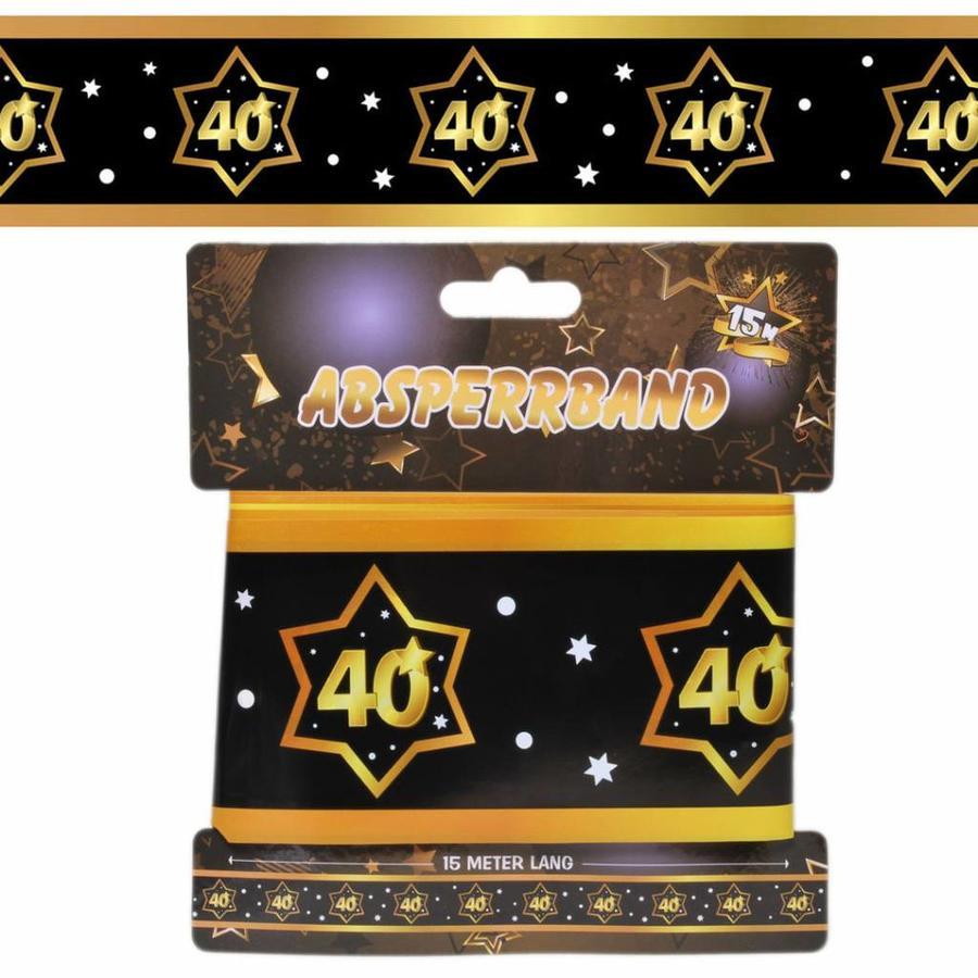 Decoratie lint 40 jaar goud zwart