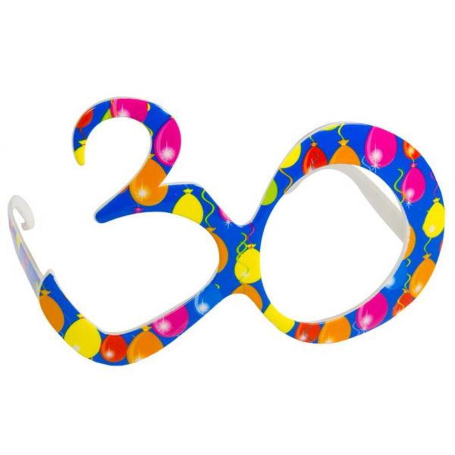 Funbril 30 jaar blauw