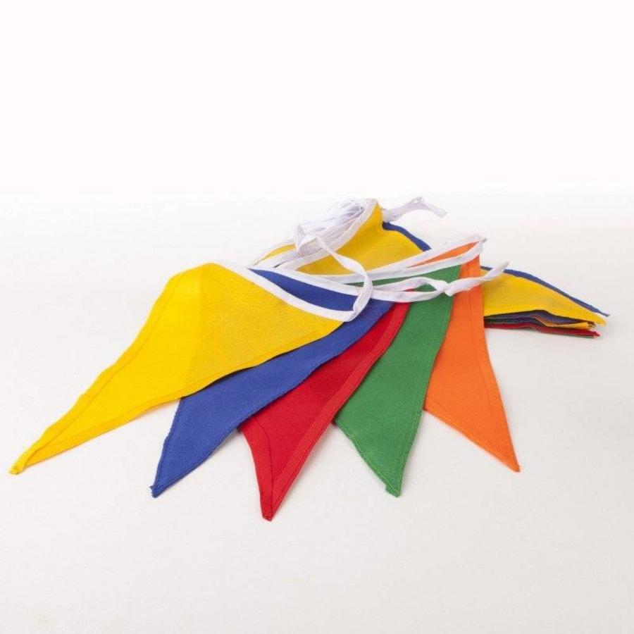 Vlaggenlijn katoen 10 meter gekleurd