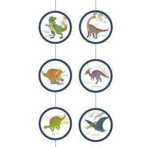 Hangdecoratie Happy Dinosaurus 4 stuks