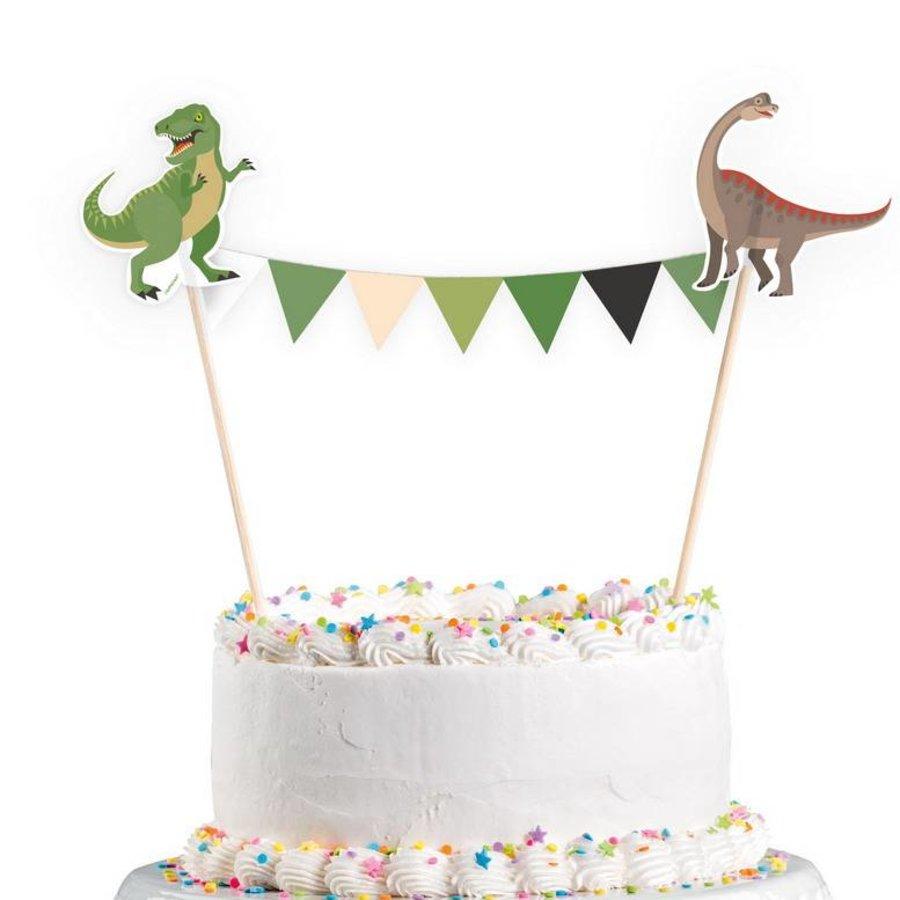 Taartdecoratie Happy Dinosaurus